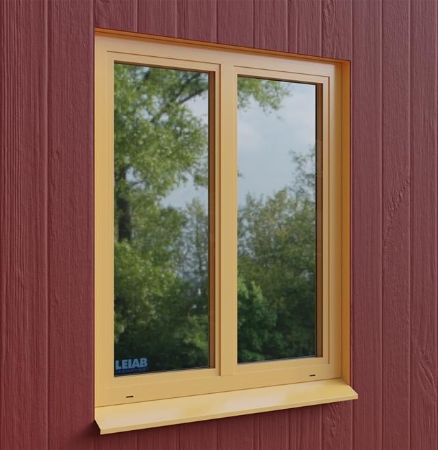 Fönstret har en fast mittpost och två handtag på insidan för att kunna  öppna de båda fönsterbågarna var för sig. Det orangefärgade 3D-fönstret är  placerat ... 5cd43d8ad49c7